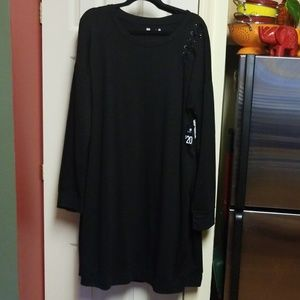 Xersion Shoulder Tie Sweatshirt Dress